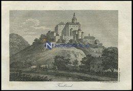 FRIEDLAND, Schloß Bei Liebwerda/Böhmen (Leitmeritzer Kreis): In Den Felsen Teilweise Eingebaute Burganlage, Ztw. In Besi - Lithographies