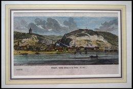 NIKOPOLI, Festung An Der Donau, Kolorierter Holzstich Um 1880 - Lithographies