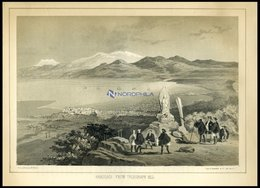 HAKODADI, Vom Telegraphen-Berg Gesehen (Hakodadi From Telegraph Hill), Getönte Lithographie Aus Narrative Of The Expedit - Lithographies