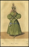Wiener-Moden - Kleid Von Gros-de-Naples Von J.G. Beer- Dazu Ein Mit Gaze Und Blumen Gezierter Gros-de-Naples-Hut, Altkol - Lithographies