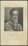 Ferdinand Herzog V. Alba, Stahlstich Von B.I. Um 1840 - Lithographies