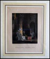 Kloster: Das Karthäuser-Kloster, Kolorierter Holzstich, V. Bayer Pinx., French Sc., Mit Mönchen - Lithographies