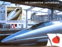 Guinea - Bissau 2003 - Trains Of Japanese S/s. Y&T 164, Michel 2252 BL403 - Guinea-Bissau
