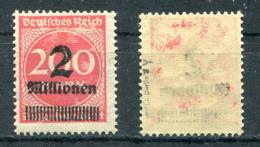 D. Reich Michel-Nr. 309Y Ungebraucht - Geprüft - Ungebraucht