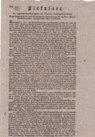 AUSTRIA  --  KLAGENFUR  --  CIRKULARE  --  1823   --  OLD DOCUMENT - Historische Dokumente