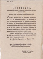 AUSTRIA  --  KLAGENFURT  --  CIRKULARE  --  1836   --  OLD DOCUMENT - Historische Dokumente