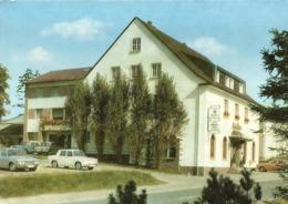 """5453 """" HOTEL SCHUTZENBURG - BURSCHEID """" FIAT 600 -CART. POST. OR. NON SPED. - Germania"""