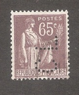 Perforé/perfin/lochung France No 284 CL Crédit Lyonnais (218) - Perforés