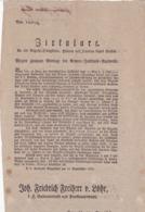 AUSTRIA  --  KLAGENFURT  --  CIRKULARE  --  1835   --  OLD DOCUMENT - Historische Dokumente
