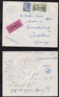 Luxemburg Luxembourg 1965 EXPRESS Cover WASSERBILLIG To MUNICH Germany - Luxemburg