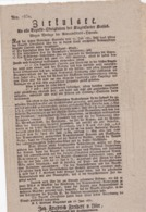 AUSTRIA  --  KLAGENFURT  --  CIRKULARE  --  1837   --  OLD DOCUMENT - Historische Dokumente