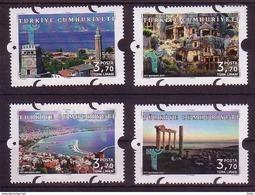 2017 TURKEY ANTALYA THEMED DEFINITIVE POSTAGE STAMPS MNH ** - 1921-... Republic