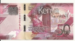 KENYA 50 SHILLINGS 2019 UNC P New - Kenia