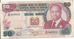 KENYA 50 SHILLINGS 1988 VF P 22 E - Kenia