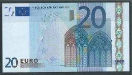 E SLOVAKIA  20 EURO  G012 B1  TRICHET   UNC - EURO
