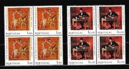 1975 Portogallo Portugal EUROPA CEPT EUROPE 4 Serie Di 2v. In Quartina MNH** Bl.4 - Europa-CEPT
