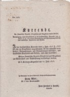 AUSTRIA  --  KLAGENFURT  --  ?URRENDE  --  1823  --  OLD DOCUMENT - Historische Dokumente