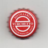 Tappo A Corona Distilleria TURCHETTO - Colore Rosso - (MW2595) - Capsules & Plaques De Muselet