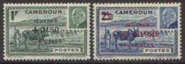 Détail De La Série Maréchal Pétain Surchargés -> Oeuvres Coloniales ** Cameroun N° 263 - 264 - 1944 Maréchal Pétain, Surchargés – Œuvres Coloniales