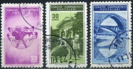 Turkey 1955 - Mi. 1448-50 O, 10th International Transportation Congress - 1921-... République