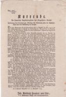 AUSTRIA  --  KLAGENFURT  --  ?URRENDE  --  1823  --  OLD DOCUMENT - Documents Historiques
