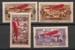 Grand Liban - 1926 - Poste Aérienne PA N°Yv. 13 à 16 - Série Complète - Neuf * / MH VF - Grand Liban (1924-1945)