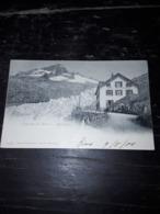 Cartolina Postale, Postcard, 1900, Glacier Du Rhone, Belvedere - BE Berne