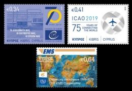Cyprus 2019 Mih. 1418/20 Council Of Europe. International Civil Aviation Organization. EMS MNH ** - Cyprus (Republic)