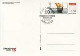 DENMARK 2010 FRAMA Frimærkeforum '10 Roskilde: Souvenir Card CANCELLED - Vignette Di Affrancatura (ATM/Frama)