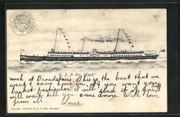 AK Passagierschiff S.S. Eagle Mit Wimpeln An Masten, General Steam Navigation Co`s. - Paquebots