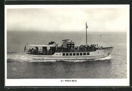 AK Passagierschiff M.V. Poole Belle Auf Meer - Paquebots