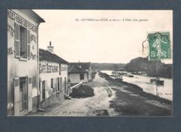 95  -  AUVERS Sur OISE   -   11 -  L OISE , RIVE GAUCHE ( RENDEZ VOUS DES PÉCHEURS - HOTEL DU PONT - Auvers Sur Oise