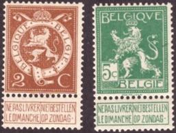 Belgique 1912 -  Lion Debout   Pellens # Cond. MNH #  Gomme D'origine - 1912 Pellens