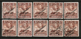 MALTA  Scott # 209 USED WHOLESALE LOT OF 10 (WH-325) - Lots & Kiloware (mixtures) - Max. 999 Stamps