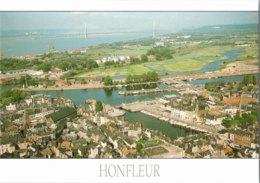 Kt 874 / Honfleur, Vue Generale Aerienne. Au Dernier Plan, Le Pont De Normandie - Honfleur