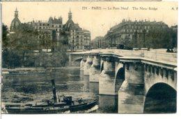 75001 PARIS - Le Pont Neuf - Remorqueur De Péniches Sablières De La Seine - District 01