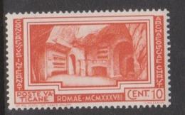 Vatican City S 56 1938 Archaelogicl Congress,10c Orange,mint Never Hinged - Vatican