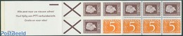 Netherlands 1975 4x5c, 6x30c Booklet, Text: Alle Post Naar Uw Nieuw, (Mint NH), Stamps - Stamp Booklets - Carnets Et Roulettes
