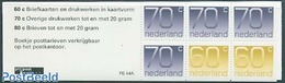 Netherlands 1991 4x70c, 2x60c Booklet, (Mint NH), Stamps - Stamp Booklets - Carnets Et Roulettes