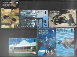 Bermuda  2001   Sc#812-7  Aquarium Set MNH    2016 Scott Value $12.50 - Bermuda