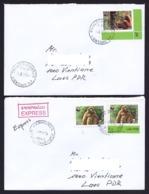Laos 2017 2 X Domestic Express Monkey - Laos