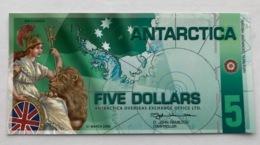 ANTARTICA P10  5 DOLLARS 08.2008 UNC - Banknoten