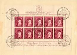 Generalgouvernement GG MiNr. Klb. 104, Kopernikus, I/3, Gestempelt Auf Karton - Besetzungen 1938-45