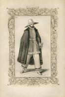 Male Costume From Galicia Spain Historical Costume Fashion Mode Engraving Vecellio 1860 № 277 - Stiche & Gravuren