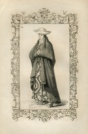 Lady Of Galicia Spain Historical Costume Fashion Mode Engraving Vecellio 1860 № 278 - Stiche & Gravuren