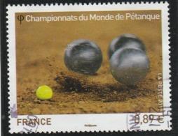 FRANCE 2012 CHAMPIONNAT DU MONDE DE PETANQUE OBLITERE YT  4684 - Francia