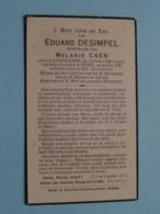 DP Eduard DESIMPEL ( Melanie CAEN ) Handzame 1 Oct 1848 - Eesen 26 Juni 1936 ( Zie Foto's ) ! - Overlijden