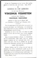 Geel, Wilrijk, 1955, Virgenia Verheyen, Verstappen - Imágenes Religiosas