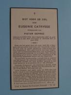 DP Eugenie CATRYSSE ( Pieter DEPREZ ) Pervyse 5 Sept 1857 - Keyem 25 Juni 1935 ( Zie Foto's ) ! - Overlijden