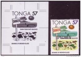 Tonga 1991 - Pollution - Broken Glass On Beach - Proof + Specimen - Pollution